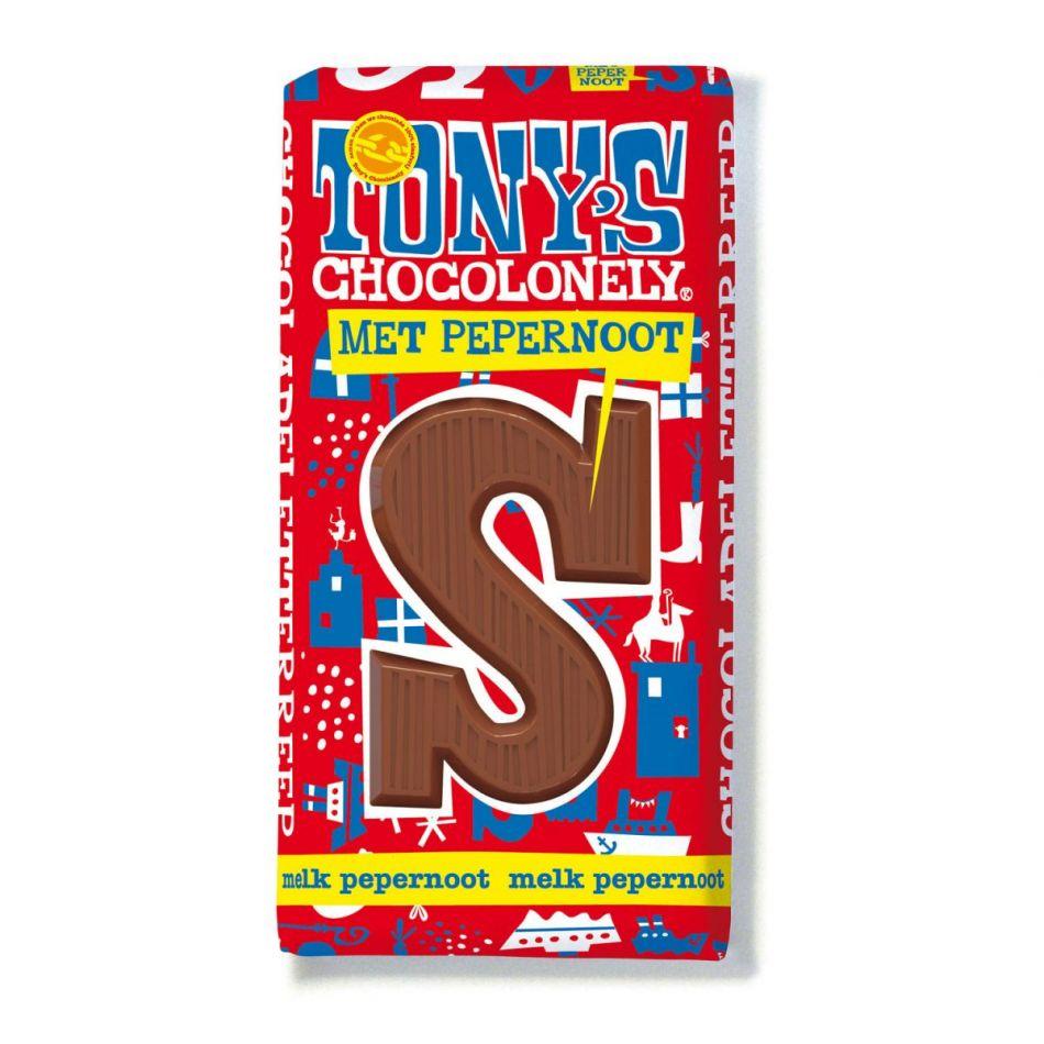 Tony's Chocolonely Letterreep Melk pepernoot