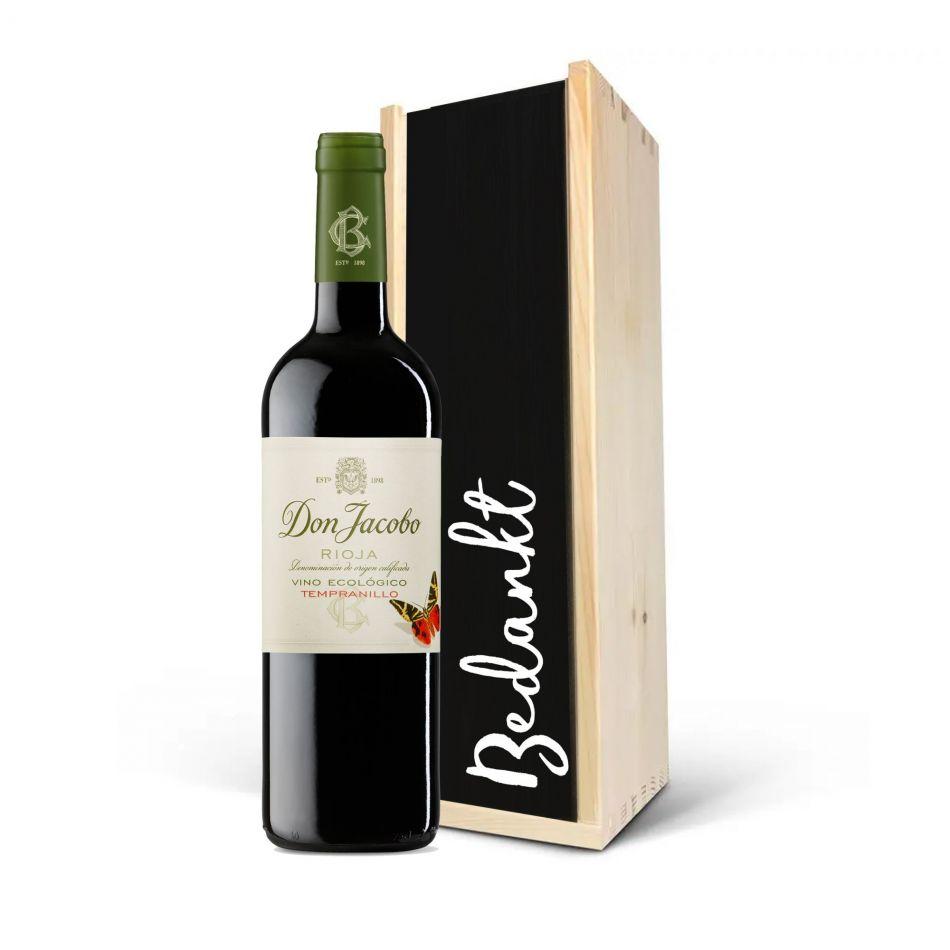 Wijnkist Don Jacobo Viticultura Ecologico rood - BIO